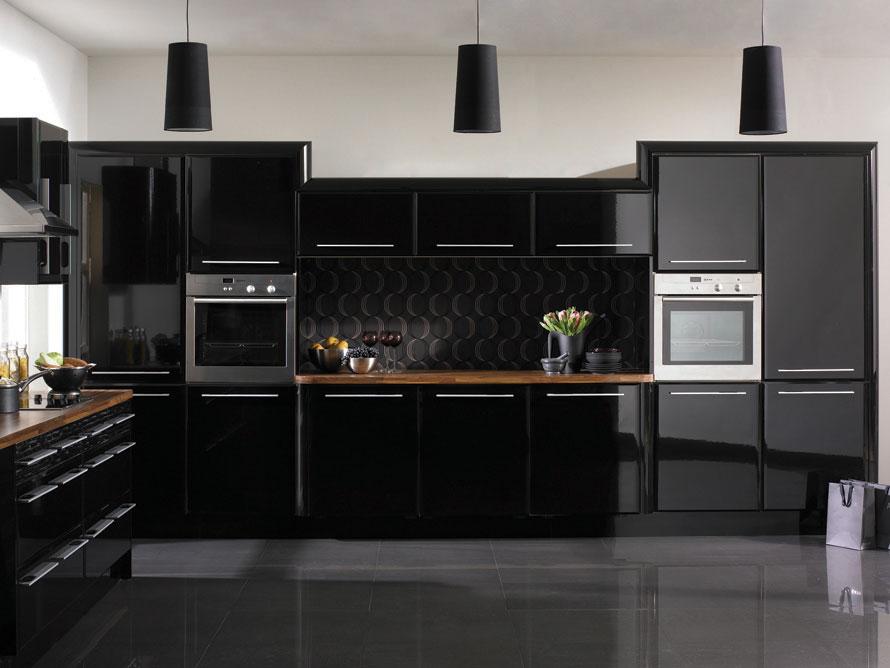 Фото черной кухни дизайн