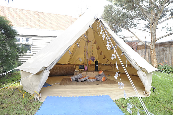 Backyard Glamping Parties Bell Tent
