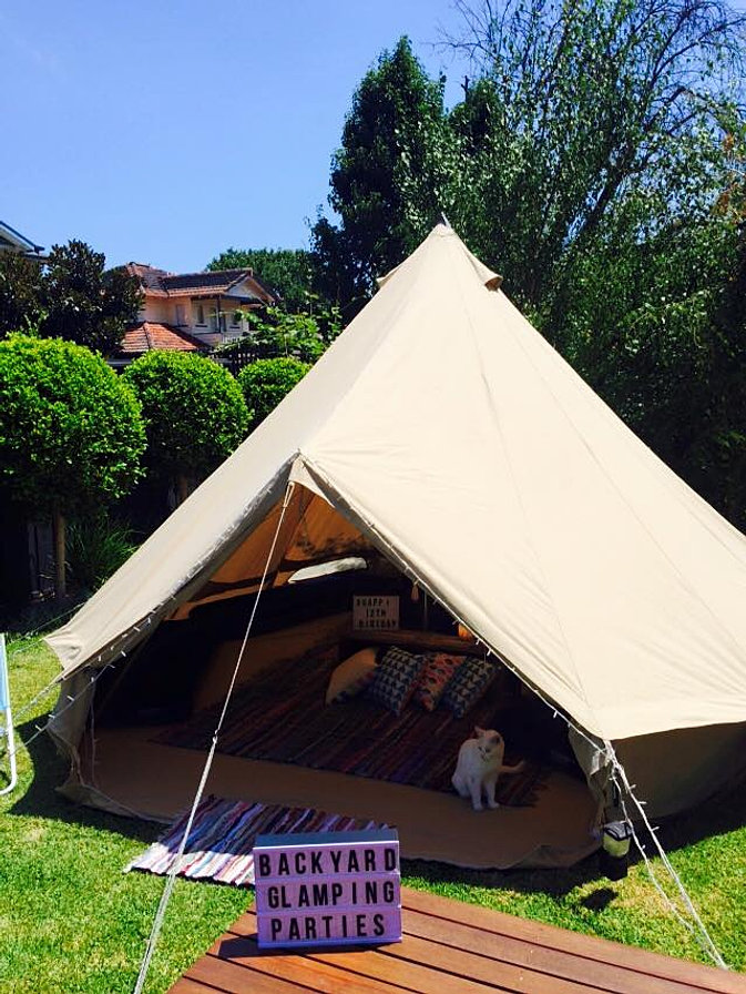 Bell Tents parties Melbourne & Backyard Glamping Parties- Bell Tent Parties