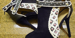 Black and White Cake Boots