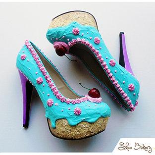 Teal Pink Cake heel