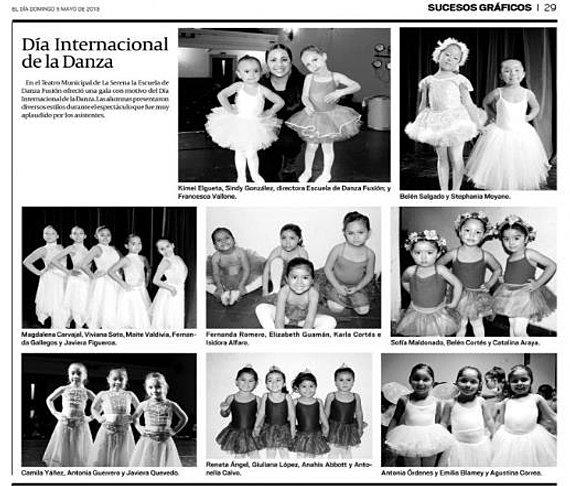 Danza Fusión en el Diario El Día.