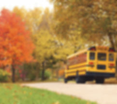 car passng a stopped school bus