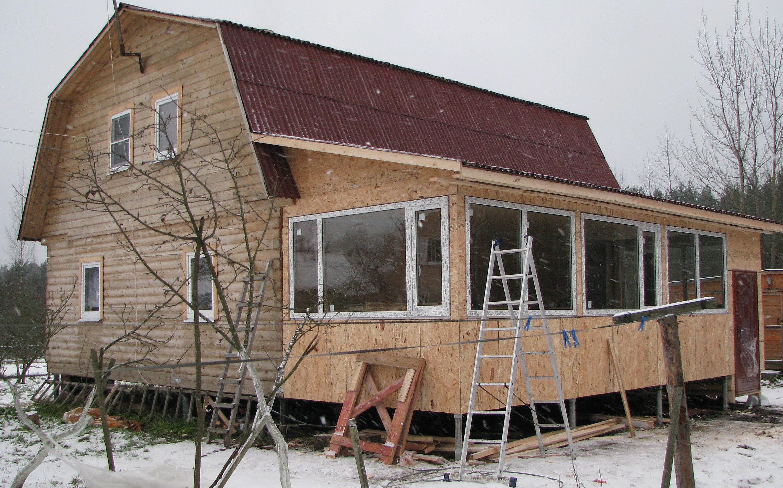 Пристроить террасу к дому своими руками фото