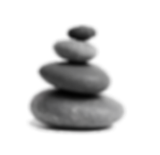 four stacked stones - high def transpare