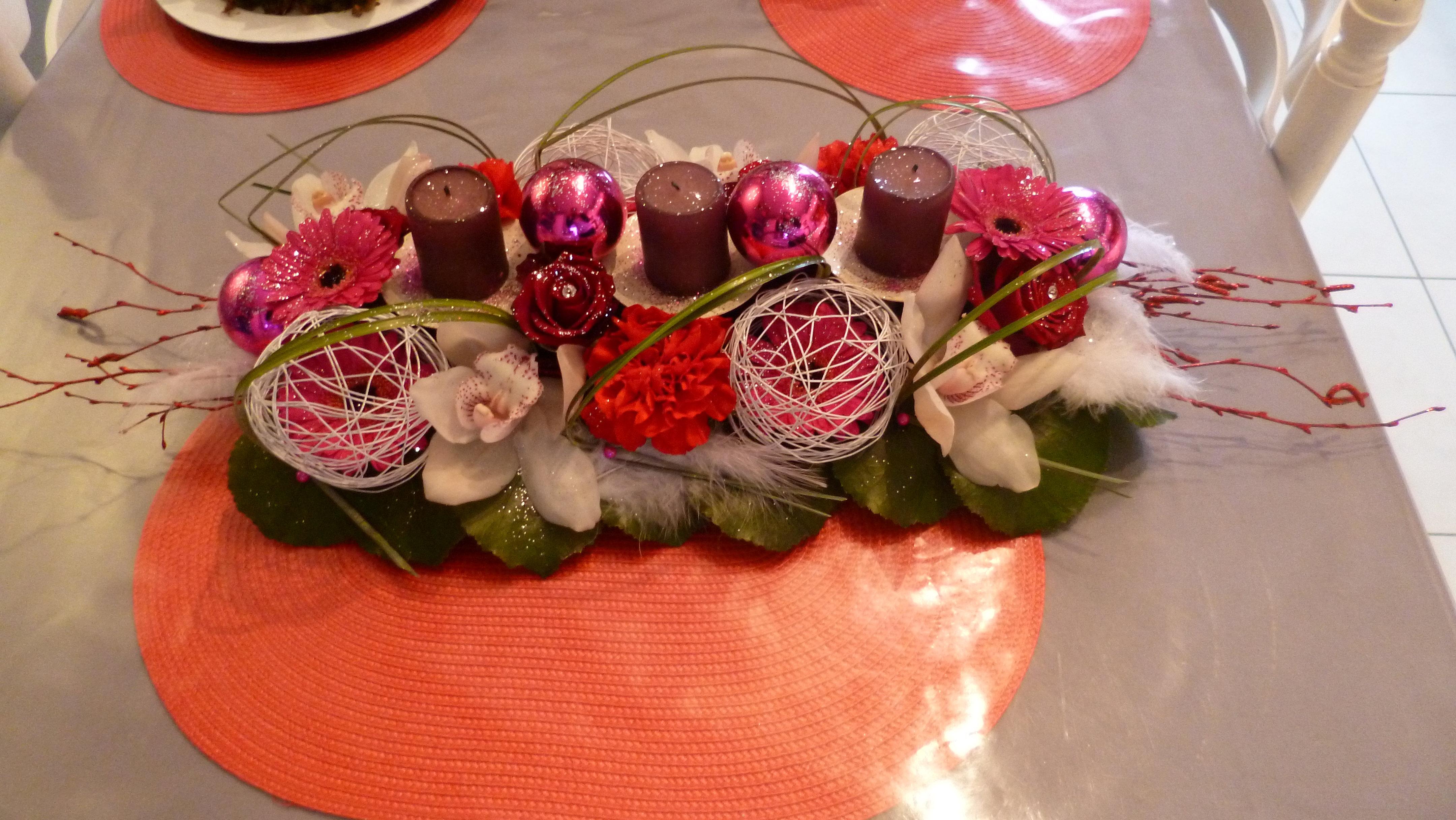Decofleur decoration florale a domicile en deux s vres for Centre de table lumineux