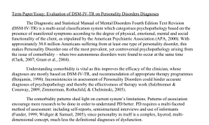 essay on mental disorders Mental illness research papers examine the behavioral patterns that cause suffering and an inability to function in ordinary life.