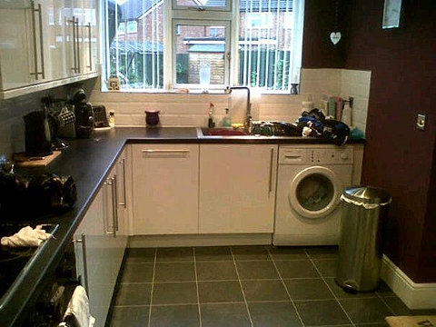 Lgs services west midlands customer pictures Garage into kitchen