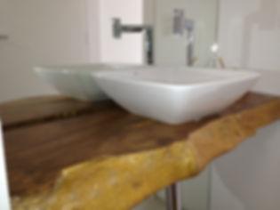 Lavabo confeccionado com Prancha Orgânica