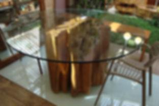 Mesa Guarantã Orgânica com vidro