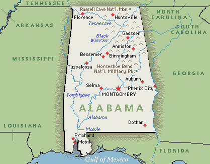 Alabama Usa Map Missouri Map - Alabama in usa map