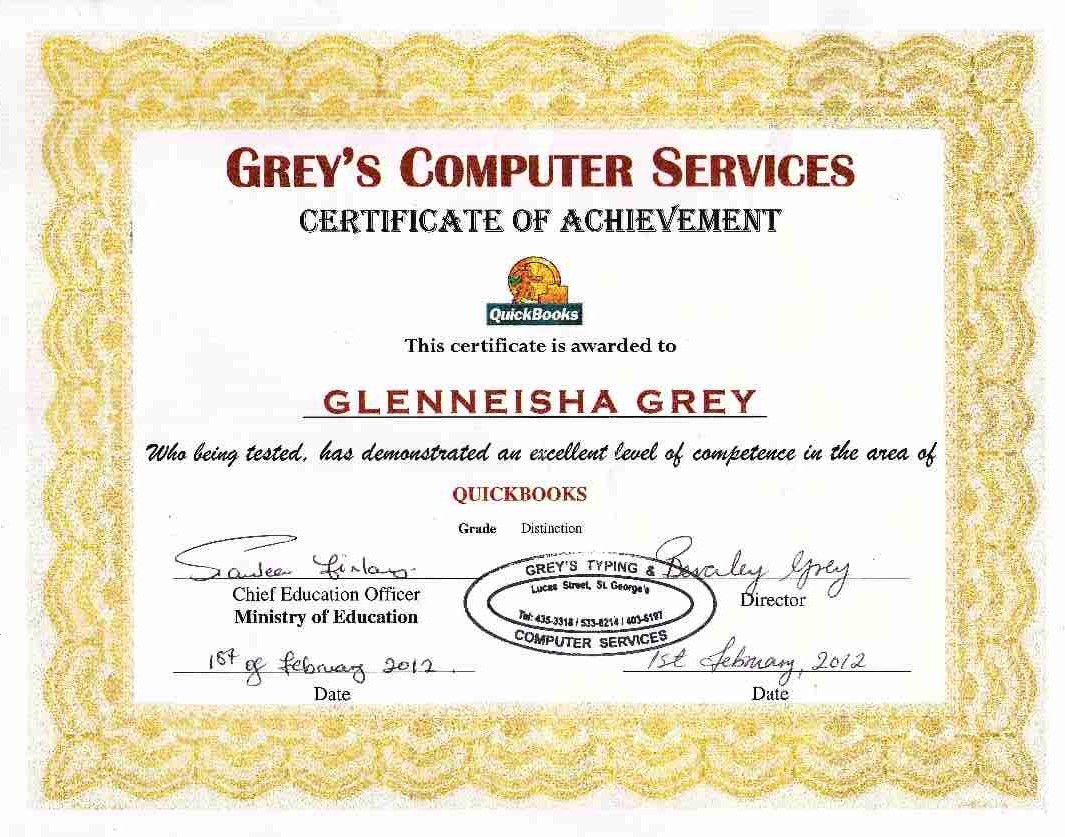 Greystyping and computer services grenada wix quickbooks certificate sample yadclub Gallery