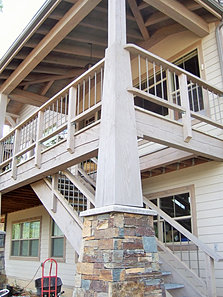 Mantel column gallery for Tapered porch columns