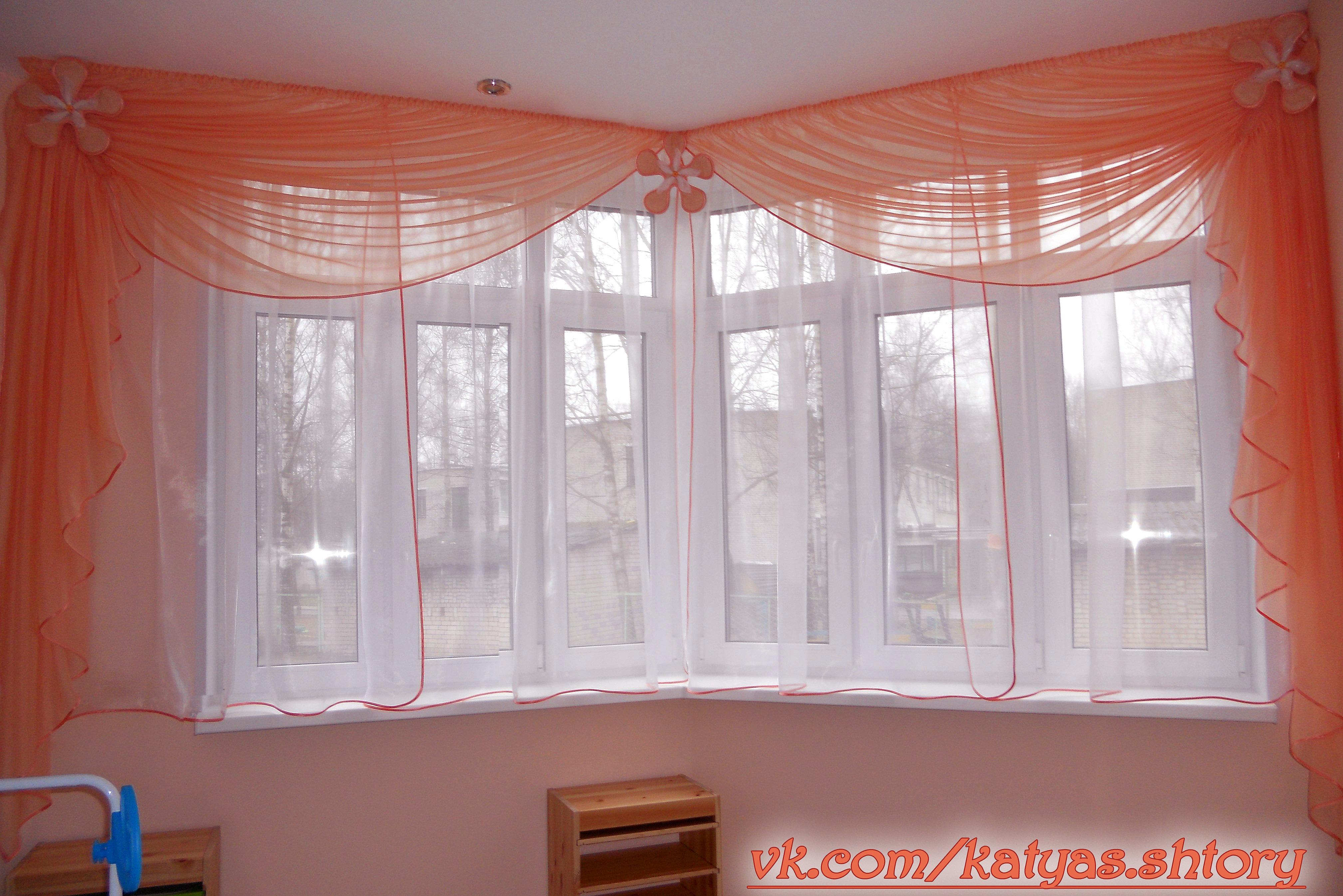 Декор окна на балконе. - остекление - каталог статей - балко.