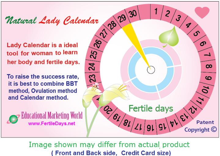 Fertile days - Lady Calendar - Fertility Awareness, NFP, ovulation ...