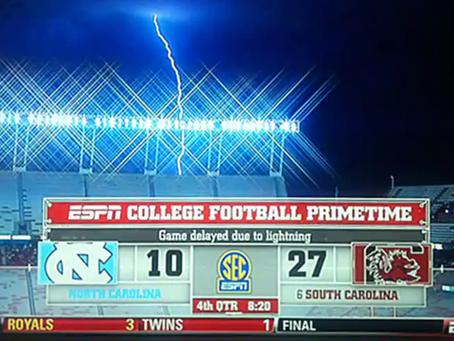 闪电可能会在体育场馆杀死数十人:预防的重要性