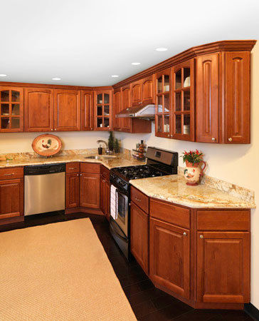 Angled Base Cabinets For A Custom Look.