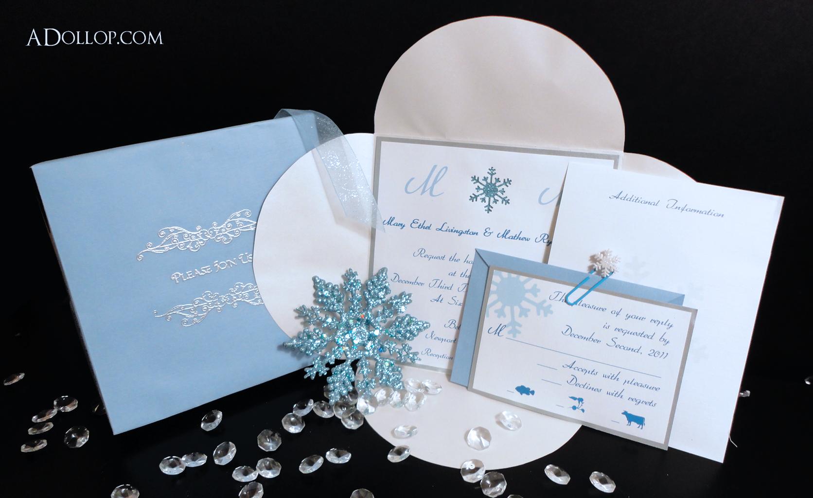 A Dollop of Inspiration | Unique Custom Wedding Invitations, Custom ...