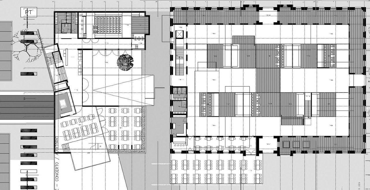 Market and Auditorium Plan