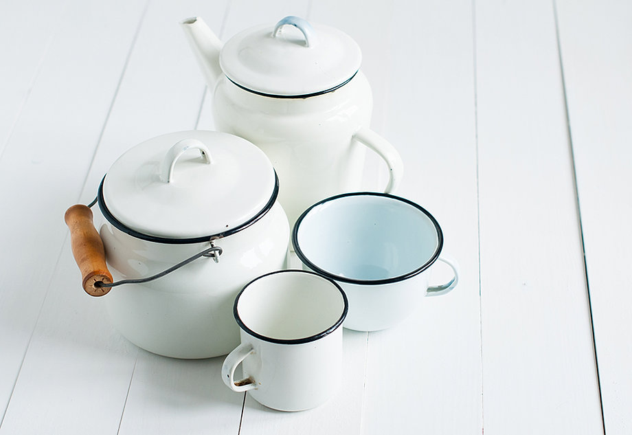White Vintage Kitchenwear
