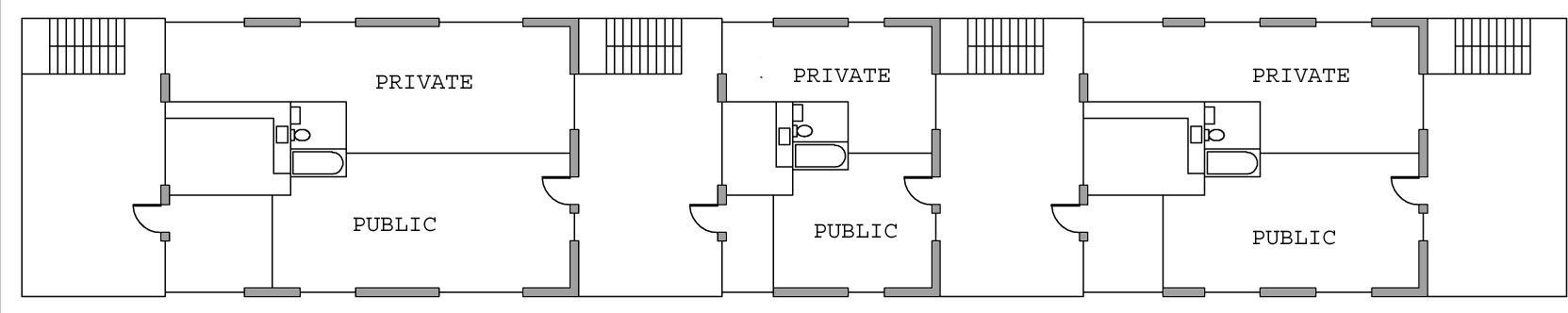 Portfolio created by evelyngtse based on blank Urban infill house plans