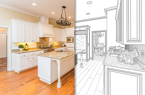 Kitchen Design Drawing Computer 3d Layout Material Selection