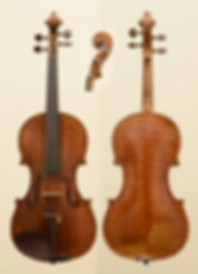 American antique violin by Archibald Somerville Hill