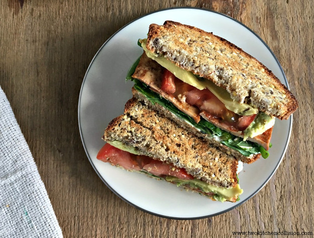 Image result for tomato sandwich with bacon and arugula