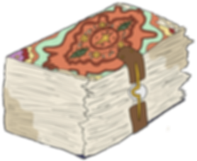 Tome from the fantasy adventure books, The Bone Grit Historeum