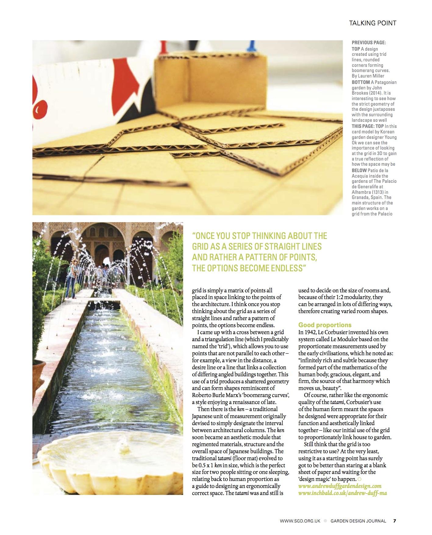 article in the garden design journal