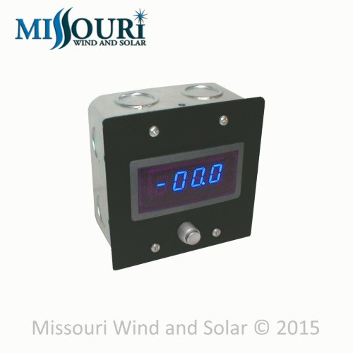 ennis wind and solar dc and ac meters 100 amp digital dc meter in gang box shunt
