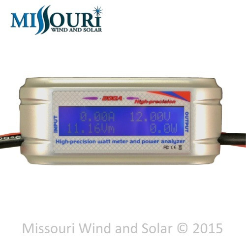 ennis wind and solar dc and ac meters 200 amp watt meter special heavy awg wire