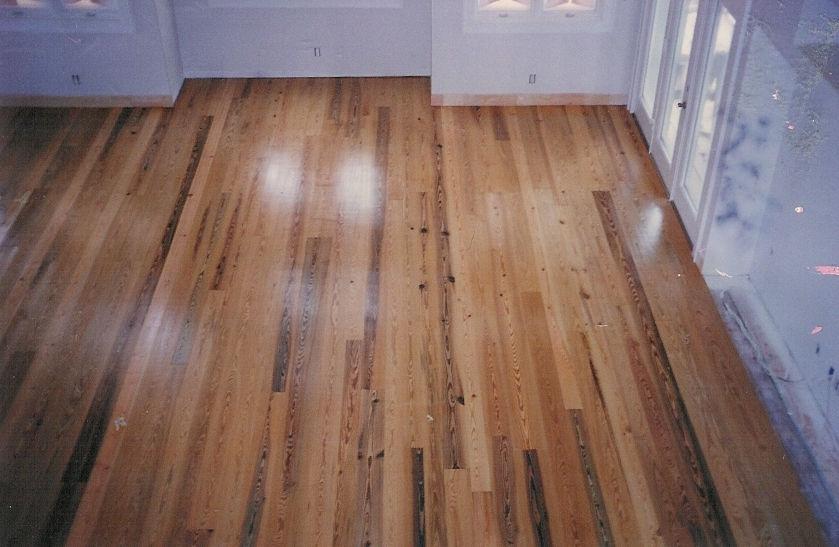 Old river sawmill jim flournoy antique heart pine for Antique pine flooring
