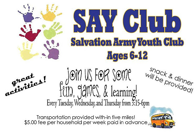 Salvation Army Youth Club SAY Club