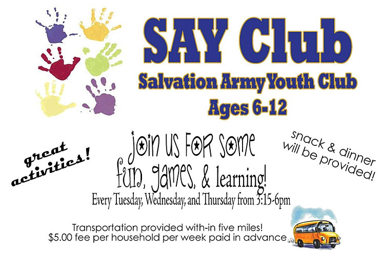 Salvation Army Youth Club