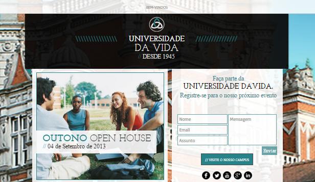 Landing Page de Universidade