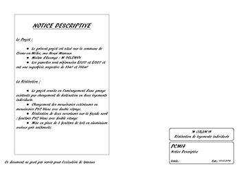 Bechu virginie dessinatrice permis de construire for Notice descriptive permis de construire