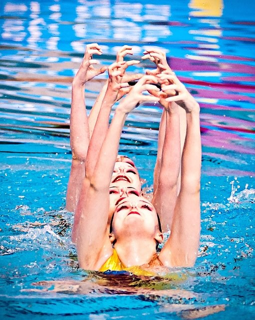 synchronised swimming naked