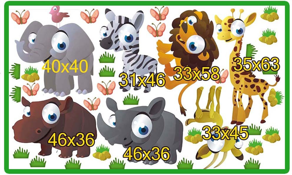 animalitos stickers para pared