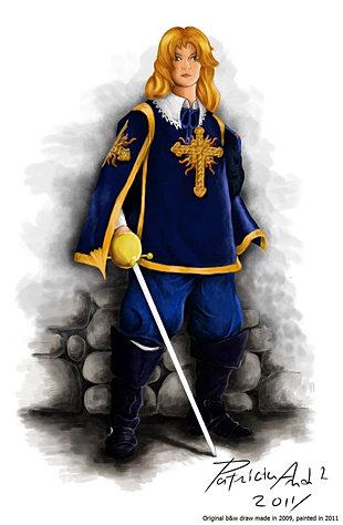 Рисунок мушкетёр арамис