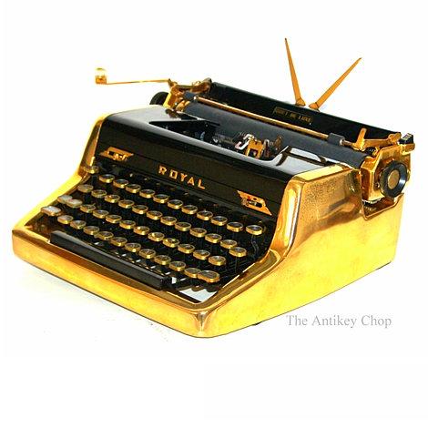Royal Quiet de Luxe Gold Typewriter