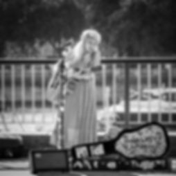 Charlotte Campbell Busking Photo by John