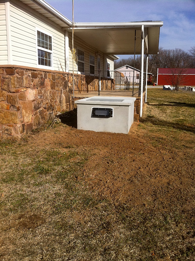 Mobile Home Tornado Shelter : Piles concrete n bloomington st p o box lowell ar