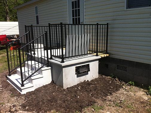 Designed for mobile homes for Porch storm shelter
