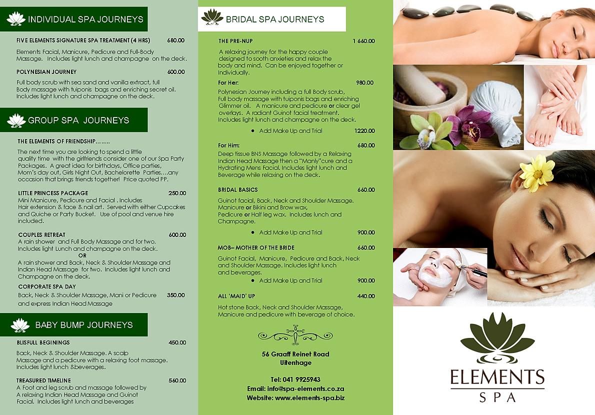 Beauty spa uitenhage for 4 elements salon