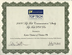 PRSourceCode Top Tech Communicators Awar