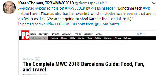 Twitter example MWC 2018 pcmag