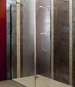 Aquadry wetroom weztone products l shaped walk in shower for Wet room shower screen 400mm