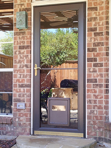 Window Door With Small Dog Door