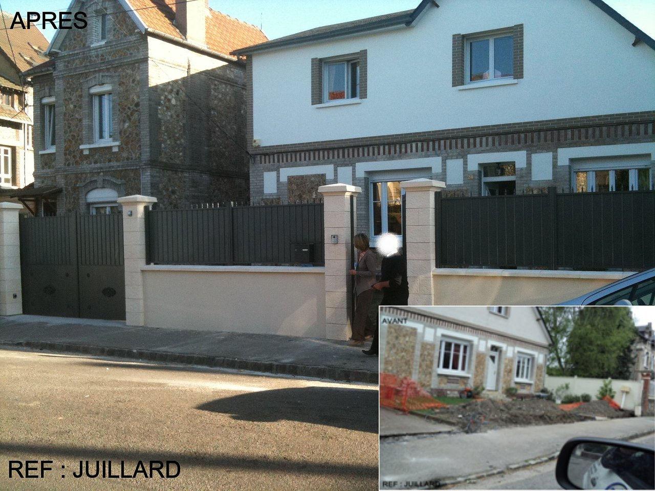 Samet emg r novation menuiserie portail aluminium for Portail portillon cloture